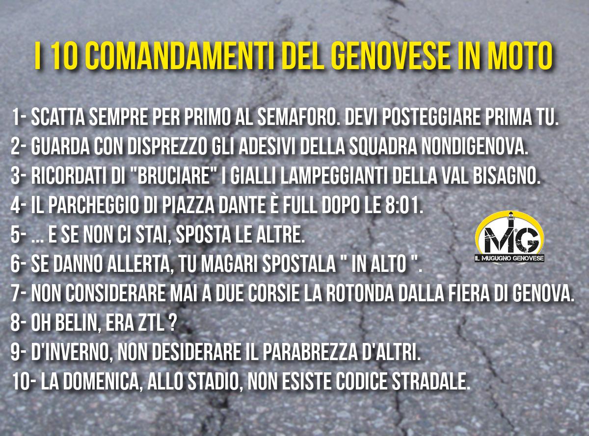 I 10 Comandamenti Del Genovese In Moto