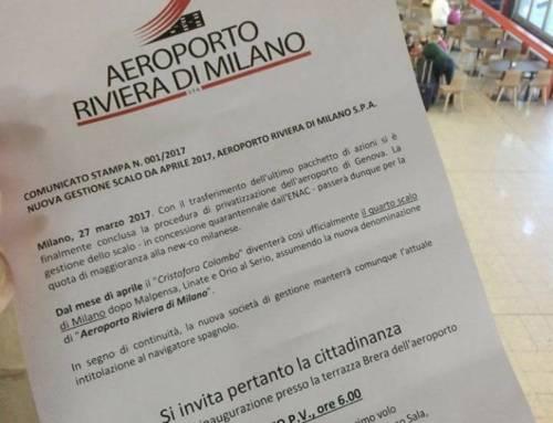 Milano acquista l'aeroporto C. Colombo!