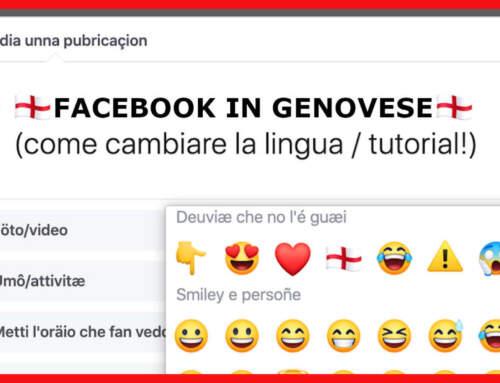 FACEBOOK IN GENOVESE! 🏴 (tutorial per cambiare lingua)