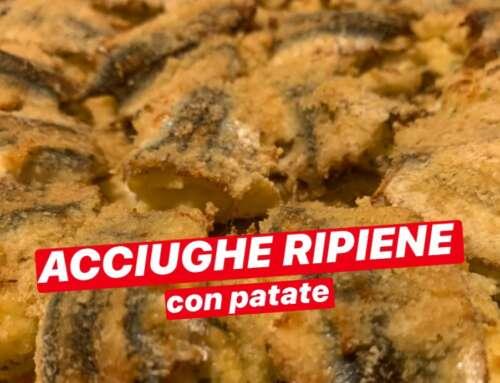 Acciughe ripiene con patate 😍🏴  Ricette Zeneixi