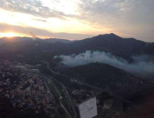 Incendio a Casarza Ligure – partito da un container di rumenta