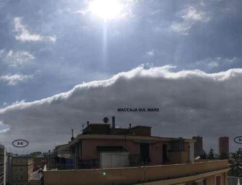 Quel muro di nuvole sul mare ieri? La Maccaja!
