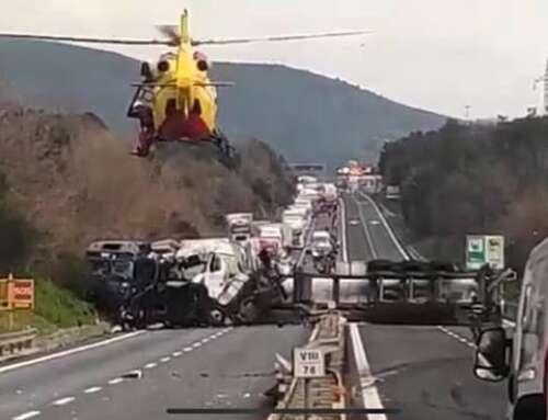 ⚠️ Scontro frontale tra due TIR – Autostrada chiusa! ⚠️