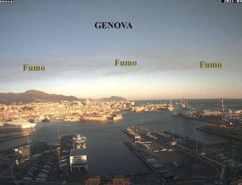 Il fumo dell'incendio sul Lago Maggiore arriva fin sopra Genova! 🔥 😱