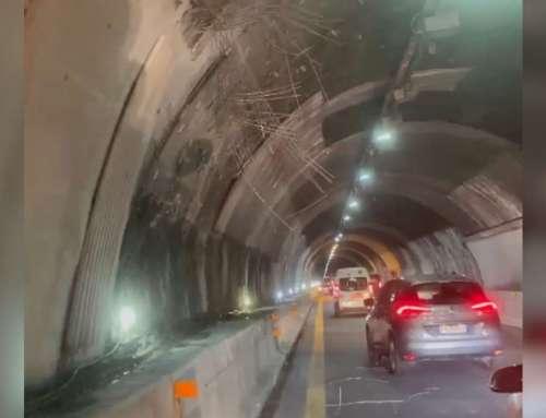 Grate che piovono dalle gallerie dell'autostrada [VIDEO]